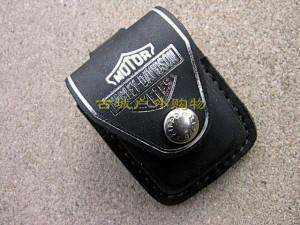 特价ZIPPO打火机哈雷系列专用黑色皮套