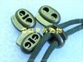 电镀古金双股绳扣双孔猪鼻扣0.5cm