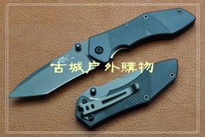 三刃木TANTO头折刀LB4-730T(刻木纹)