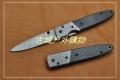 NAVY Knives K-626 大马士革夹层钢碳素柄绅士刀