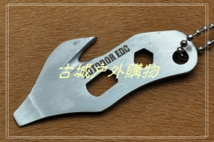 不锈钢多功能求生工具割绳刀随身EDC多用工具