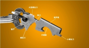 多功能钥匙扣8合1钥匙小工具EDC多用迷你钥匙工具
