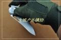 俄罗斯熊头Shirogorov黑暗钛合金flipper战术折刀