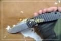 关铸GANZO G739CF轴锁碳素柄折刀