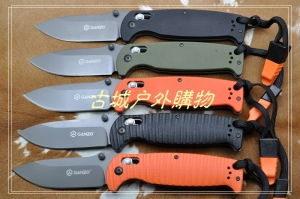 关铸GANZO G7413-WS轴锁G10灰钛战术折刀