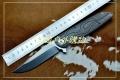 特价-亚特兰大获奖typhoon台风双面钛轴承快开钢锁D2折刀