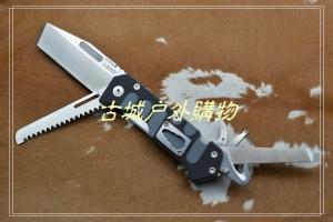 三刃木9系几何头救生工具刀LAND9047(全黑柄)
