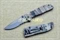 正品工包CRKT6460RT全钢迷彩柄半齿快开折刀