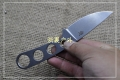 三刃木新品-硬鞘直柄小刀7130FUF小直刀(黑色和石洗可选)