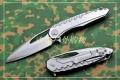 微技术镂空减重钢柄魔符D2钢折刀