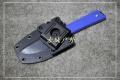 三刃木新品-旋转硬鞘G10柄S611小直刀沙本沙款(三色)