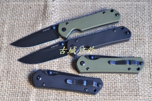 LAND新款9105黑色柄9106绿色柄石洗轴承快开折刀