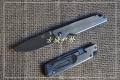 新款三刃木全钢平面砂光框架锁折刀7096LUC-SC