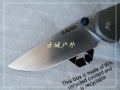 LAND新款三刃木812钛合金柄砂光刃轴承快开折刀